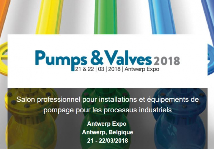 Hydro+ participe au Salon Pumps & Valves à l'Antwerp Expo